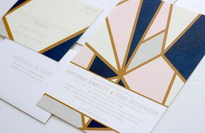 Пригласительные на свадьбу геометрия