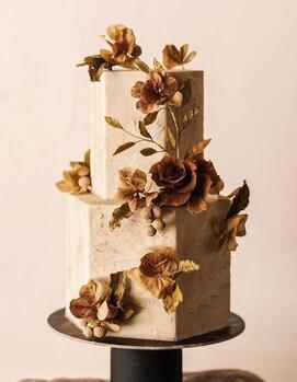 свадебный торт квадратный