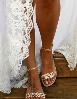 невеста бохо туфли