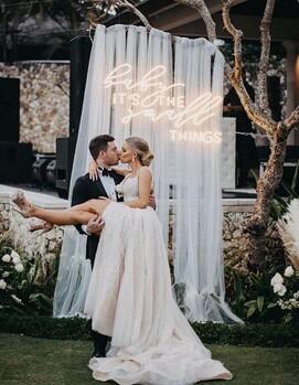 неоновые надписи на свадьбу