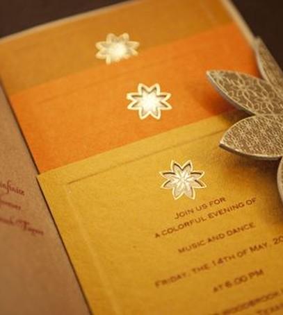 приглашения на свадьбу в оранжевом цвете