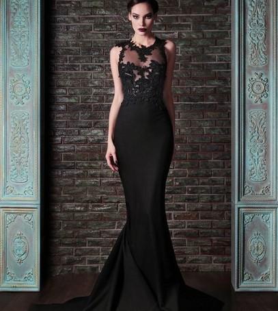 свадебное платье русалка, чёрное платье, невеста в чёрном, необычное свадебное платье