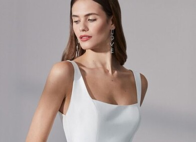 Свадебные платья в стиле минимализм: фотоподборка от YesYes