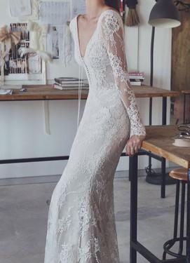 Кружевное свадебное платье 2017