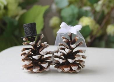 Зимняя сказка: украшение свадьбы природными материалами