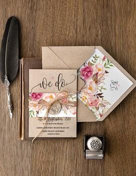 приглашения на свадьбу в стиле шебби-шик