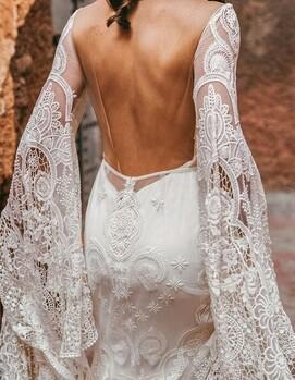 платье на свадьбу бохо