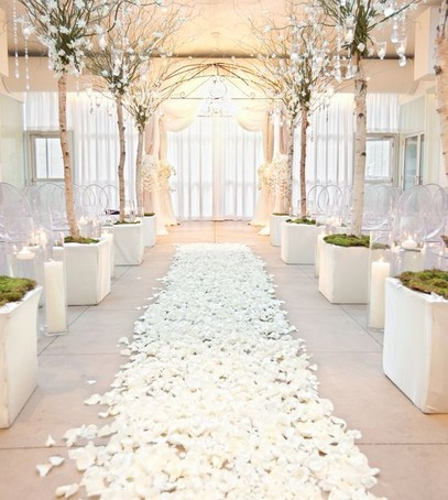 Декор белой свадьбы