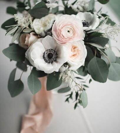 зимний букет свадебный