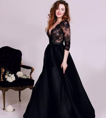 невеста, чёрное платье, свадебное платье, красивое платье на свадьбу