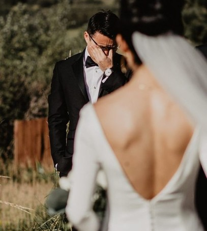 жених видит невесту