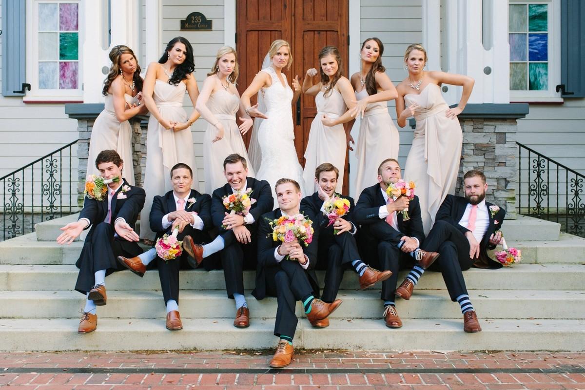 Идеи групповых фото свадьбы