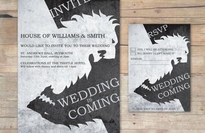Пригласительные на свадьбу Игра Престолов