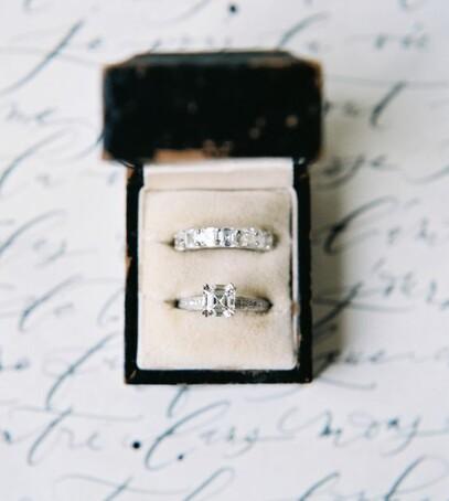 свадебные кольца вид