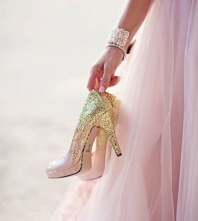 свадебные туфли, обувь на свадьбу, высокий каблук, розоввй, золотой, туфли невесты