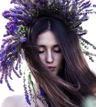 необычный венок, полевые цветы в венке
