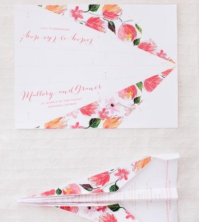 Пригласительные на свадьбу бумажный самолётик