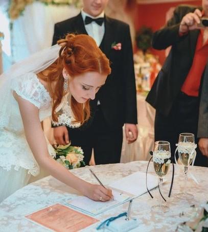 роспись в загсе, торжественная церемония бракосочетания