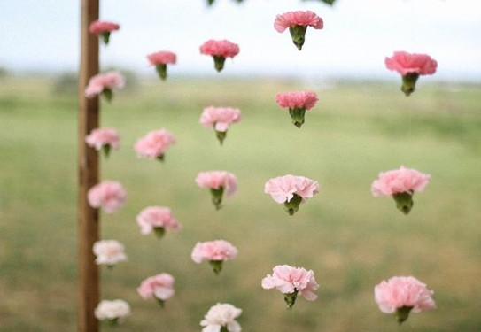 декор в розовом цвете