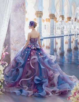 платье невесты в сиреневом цвете