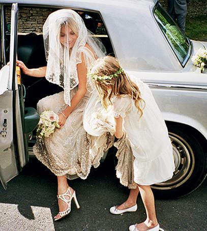 Свадьба Кейт Мосс в машине