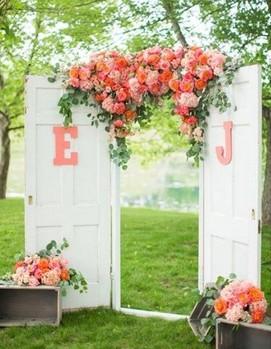 фотозона на свадьбу, свадебная арка
