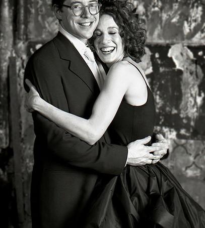 свадьба сары джессики паркер, невеста сара джессика паркер, чёрное свадебное платье, невеста в чёрном, звёздная невеста в чёрном