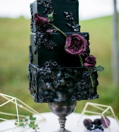 свадебный торт, чёрный торт свадебный, торт на свадьбу, 2018 торт, чёрный торт под грифельную доску