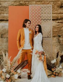 стильные жених и невеста