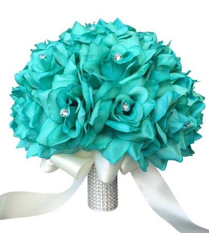 свадьба в стиле тиффани, ретро-свадьба, свадебный букет в стиле тиффани
