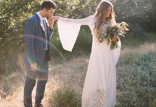 нлатье невесты в стиле шебби-шик