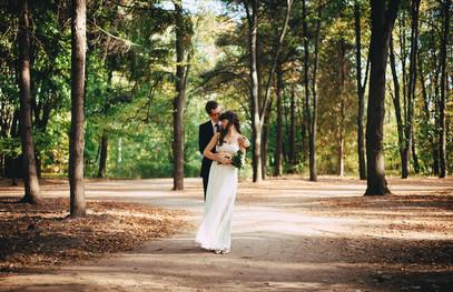 Свадебные фото в парке