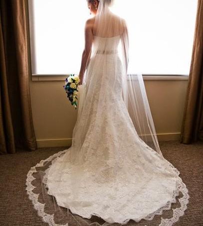 фата часовня, длинная фата, свадебное платье с фатой, утро невесты