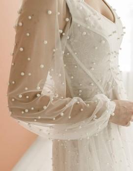 платье невесты с жемчугом