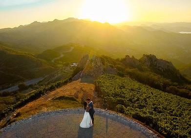 Аэрофотосъёмка: свадебные фото с высоты птичьего полёта