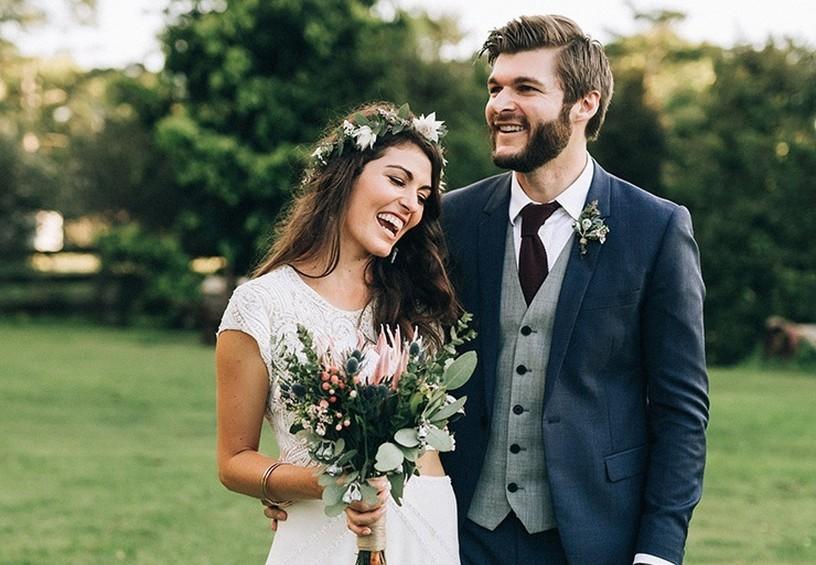 молодожёны, свадьба рустик, невеста без фаты