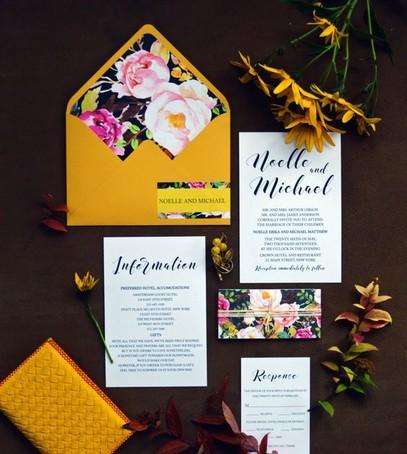 Пригласительные на свадьбу жёлтый