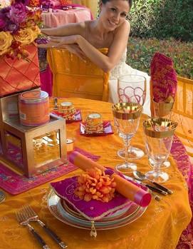 свадьба в цвете фуксия, фуксия с оранжевым цветом