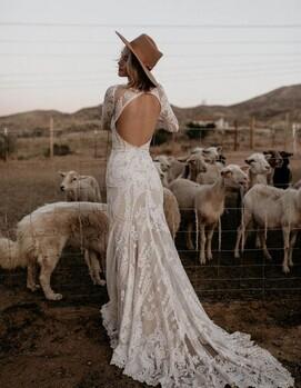 свадьба бохо платье