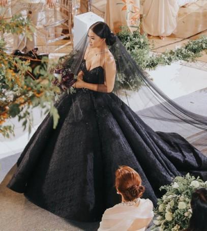 свадьба, невеста, чёрное свадебное платье, свадьба в чёрном цвете, церемония бракосочетания
