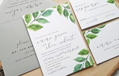 Пригласительные на свадьбу растительные