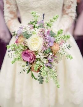 букет невесты в стиле шебби-шик