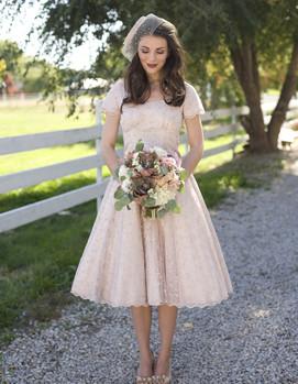 свадебное платье в ретростиле