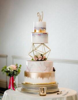 торт на свадьбу геометрический
