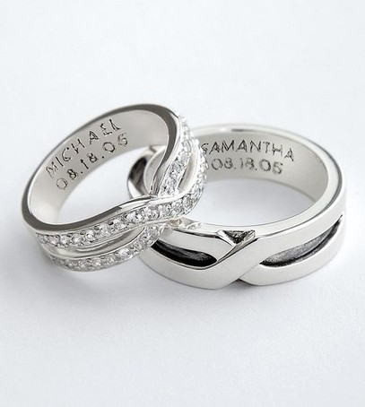 кольца с надписями, обручальные кольца с гравировкой, кольца для влюблённых