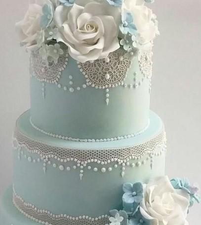 торт свадебный кружево, голубой, нежный, многоярусный торт на свадьбу