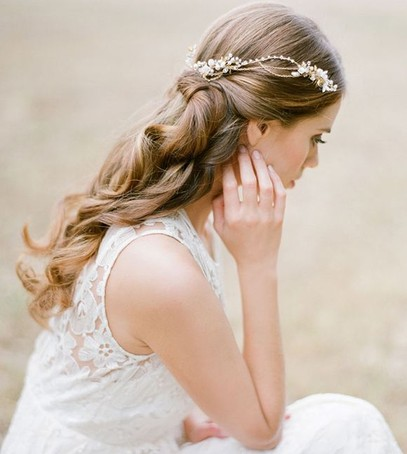 свадебная причёска, причёска на длинные волосы, невеста, свадебный образ