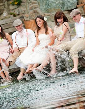 свадьба в кругу друзей, невеста, фотосессия