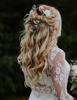 бохо прическа на свадьбу