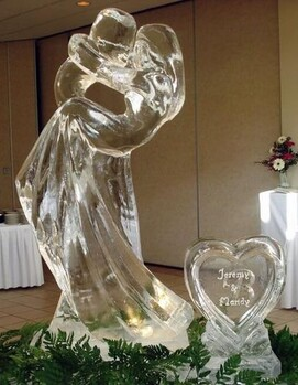 фигура из льда свадьба